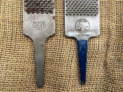 2 Good Quality Heller & Save Edge Usa Horse Hoof Rasp Farrier Blacksmith Stable
