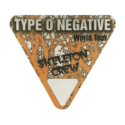 Type O Negative authentic Crew tour Backstage Pass