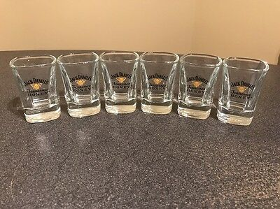 Jack Daniels Tennessee Honey Shot Glasses  - Set of 6 -NEW