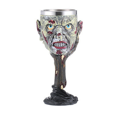Resin Zombie Stainless Liner Insulated Goblet Beer Mug Decorative Wine Cup
