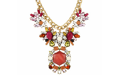 """Joan Rivers Jeweled Statement Necklace on 18"""" Curb Chain QVC $189"""