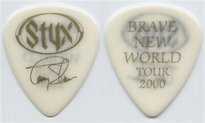 Styx Tommy Shaw authentic 2000 Brave New World tour signature Guitar Pick large