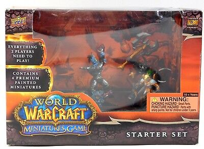 Upper Deck WORLD OF WARCRAFT MINIATURES GAME STARTER SET - New in Box
