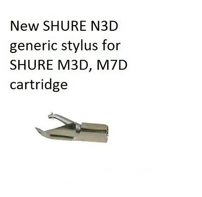 New SHURE N3D generic stylus for SHURE M3D, M7D cartridge