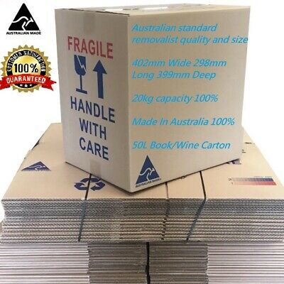 15 Cardboard Packing Boxes Removalist Moving Storage Heavy Duty Carton