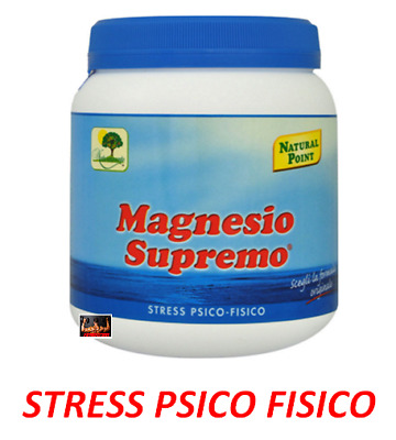 Magnesio Supremo 300 Gr  Natural Point - Aiuto Stanchezza Fisica E Mentale