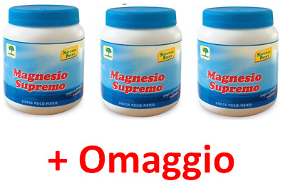 MAGNESIO SUPREMO NATURAL POINT - 3 x  300 gr - ANTISTRESS NATURALE