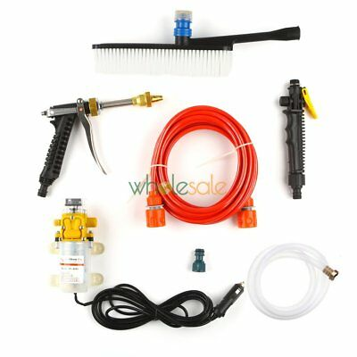 High Pressure Car Washer Cleaner Water Wash Pump Sprayer Kit DC 12V 60W 0.6Mpa