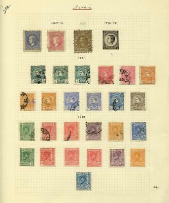 Lot of 106 Serbia Stamps - 1869 - 1920 - (105)Perf/(1)Imperf/Used/Unused/Hinged