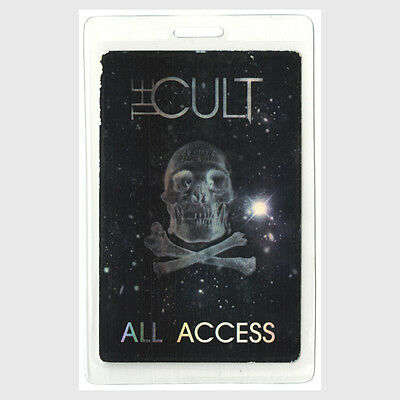 The Cult authentic concert tour Laminated Backstage Pass