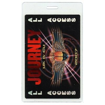 Journey authentic 2007 concert Laminated Backstage Pass UK & Europe Tour