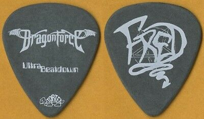 DragonForce Fred LeClercq authentic 2009 Ultra Beatdown tour stage Guitar Pick