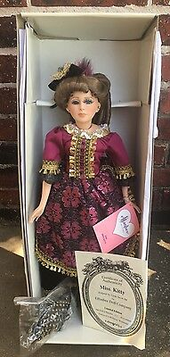 "Effanbee Doll ""MISS KITTY"" 24 Inch Showgirl of the Old West NIB Porcelain Bisque"