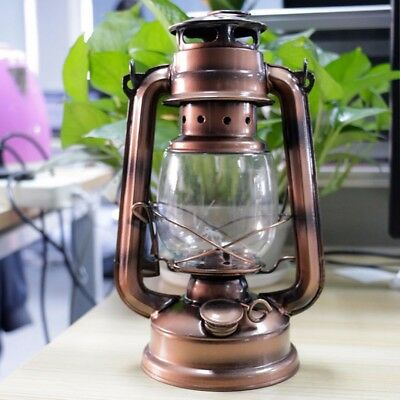 Bronze Retro Oil Lantern Outdoor Camping Kerosene Light Paraffin Hurricane Lamp