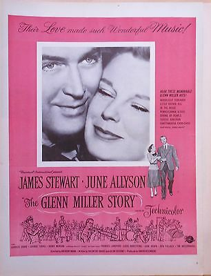 "1954 magazine ad for film ""The Glenn Miller Story"" - Jimmy Stewart, June Allyson"