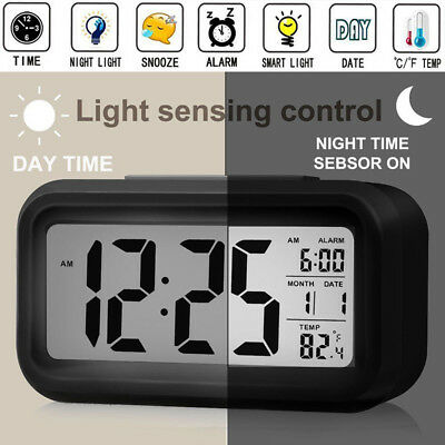 Hot Digital Backlight LED Display Alarm Clock Snooze Thermometer Calendar Time