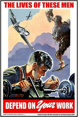 SET OF 4 WW2 POSTERS Restored! EE war military, Canada,air force, RCAF