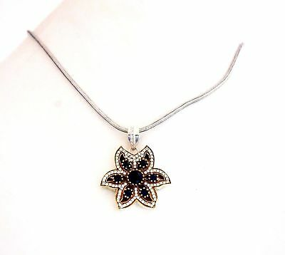 Silver Overlay Ancient Look Women Fashion Pendant with Black color
