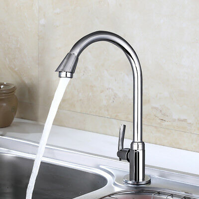 Stainless Steel Single Lever 360° Mixer Tap Swivel Spout Kitchen Home Bathroom