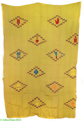 Ewe Cloth with Embroidered Motifs Ghana Togo African Art
