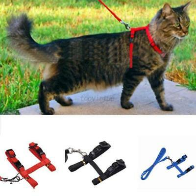 1PC Pet Cat Kitten Adjustable Harness Nylon Collar Safety Belt Rope Lead Leash