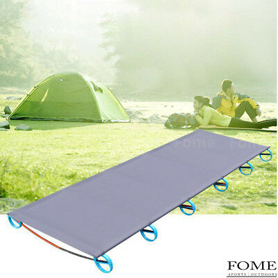 Folding Portable Camping Cot Aluminium Alloy Off Ground Foldable Bed for Adults