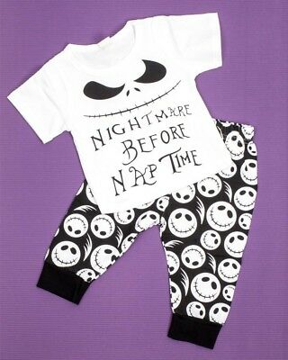 Nightmare Before Christmas Pyjamas Baby Toddler Cute Cool Jack Skellington NBX