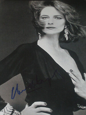 Charlotte Rampling   Superbe Grande   Photo Sexy  Signee