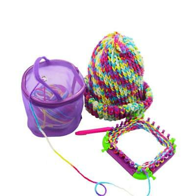 Portable Knitted Mesh Bag Yarn Crochet Storage Organizer Tote Bag Pouch Holder