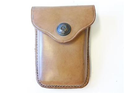 U.S.  WWI, Leather single clip Ammunition pouch, RIA 1915, Eagle snap