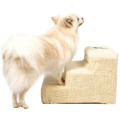 3 Steps Pet Dog Ladder Soft Stairs Puppy Washable Cover Ramp Folding Doggy