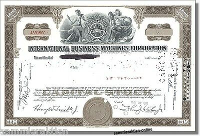 IBM International Business Machines Corporation New York alte Aktieversion 1961