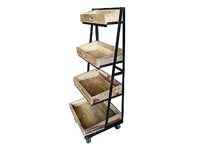 Four Tier Display Stand on Wheels