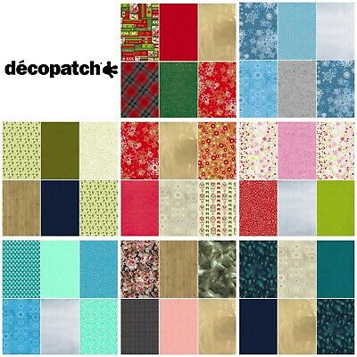 Decopatch Decoupage Paper 6 Pieces Christmas Festive Designs Multipack