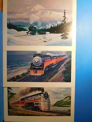 Howard Fogg Prints Lot 6  3 prints / lithographs Milw Southern Pacific +