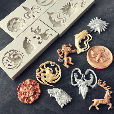 3D Dragon Shape Baking Mould Biscuit Pastry Silicone Molds Cake Chocolate Decor