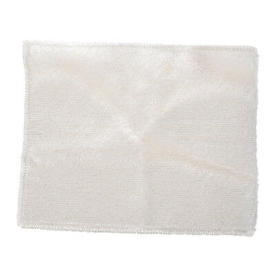 "8.8"" x 7"" Bamboo Fiber Dish Wash Cloth Cleaning Towel White for Kitchen X O6W2"