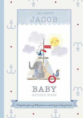 Personalised Baby Record Book for a Boy