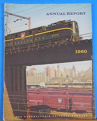PRR Annual Report 1960 Soft Cover 25 Pages Pennsylvania Railroad Company