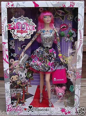 Barbie 10th Anniversary 2015 Black Label Tokidoki Doll Pink ~ Imperfect Box