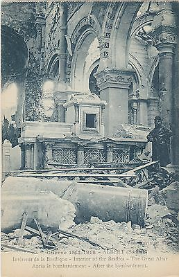 Guerre 1914-1916 Albert (Somme) Notre Dame damage after bombardment Circa 1920