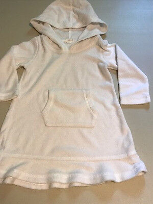 Size 2T Circo White Swim Cover Up GUC  hooded  Long sleeve