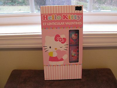 Hello Kitty 27 Lenticular Valentines Day Cards (9 Designs) New In Box