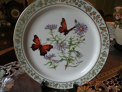 Lenox Butterflies and Flowers Collector Plate - First in Series - Signed - EC