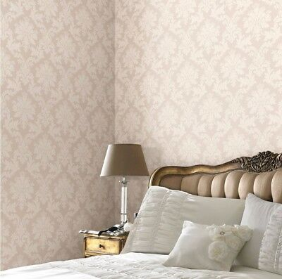 Arthouse Byron Cream Beige Natural Neutral Heavy weight Wallpaper Damask  415101