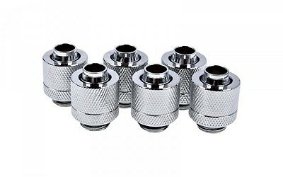 Alphacool Eiszapfen 13/10mm Compression Fitting G1/4 - Chrome Six Pack