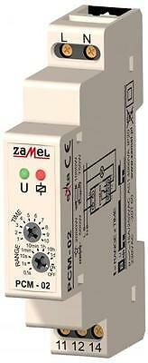 "TIME RELAY PCM-02, ""OFF"" DELAY, 230V AC or 12 ÷ 240  V AC/DC"