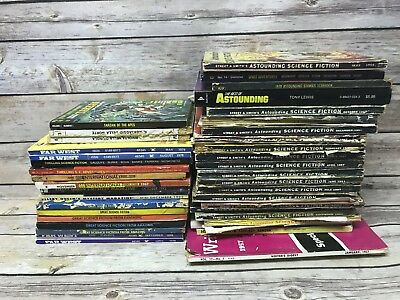 Huge Bundled Lot of Vintage Science Fiction Wild West Magazines