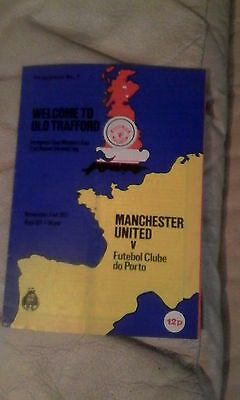 Manchester United v FC Porto EURO WINNERS CUP 2ND R 2ND LEG 1977