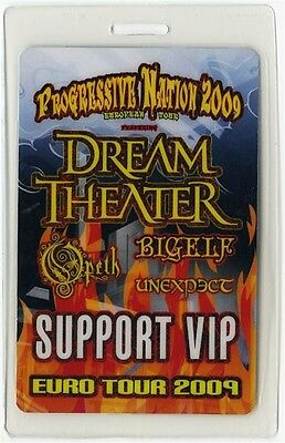Dream Theater 2009 Laminated Backstage Pass Progressive Nation Europe Tour Opeth
